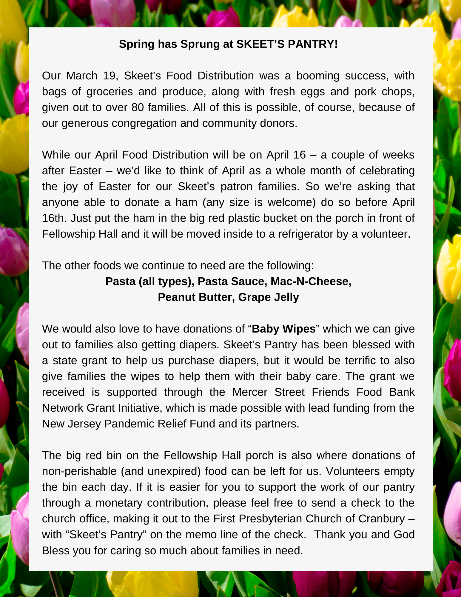 April Skeet's Pantry Mar 26