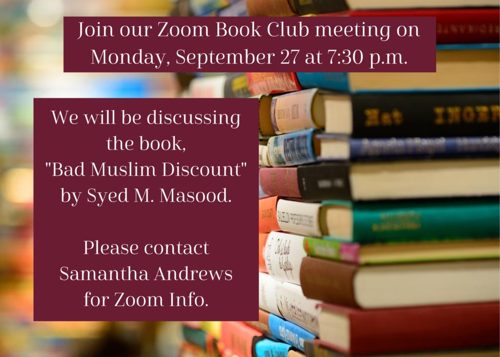 Sept 2021 Book Club